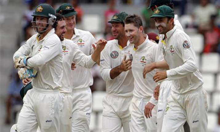 aussies win 3rd straight test series in caribbean