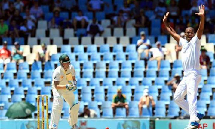 australia south africa 1st test day 1 shaun marsh leads