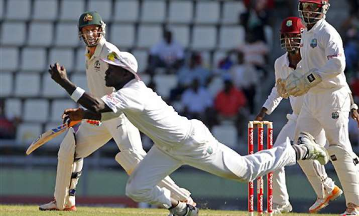 australia on 212 7 in 3rd test against west indies