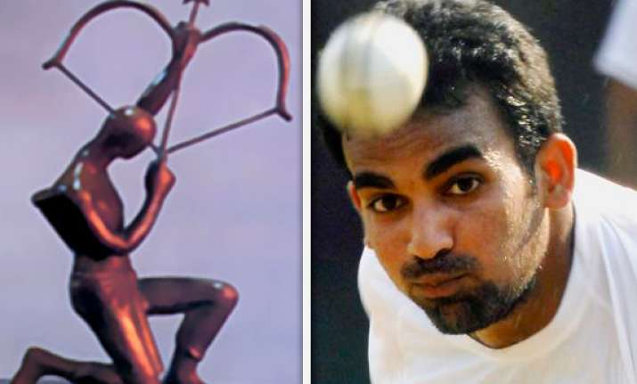 bcci recommends zaheer for arjuna award