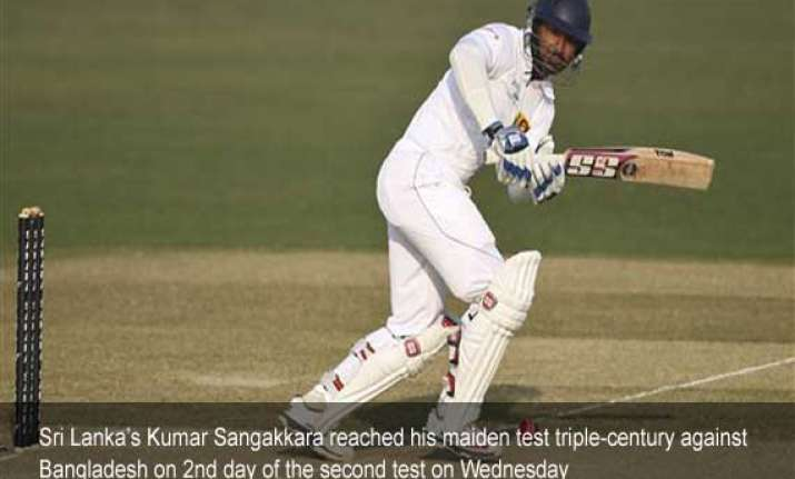 sangakkara hits his maiden triple ton sri lanka amass huge