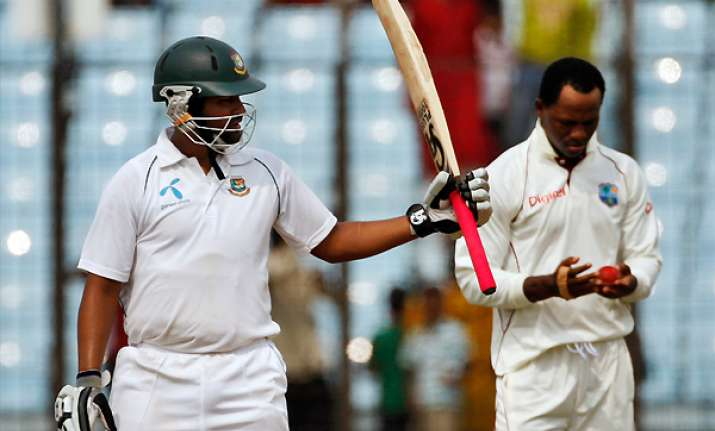 bangladesh 255 4 on day 1 vs west indies