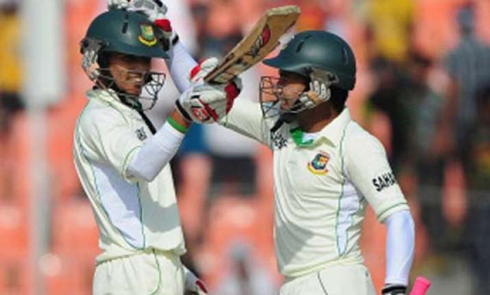 west indies 146 2 at tea in reply to bangladesh s 387