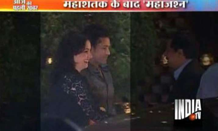 bollywood stars descend on ambani s party for sachin at