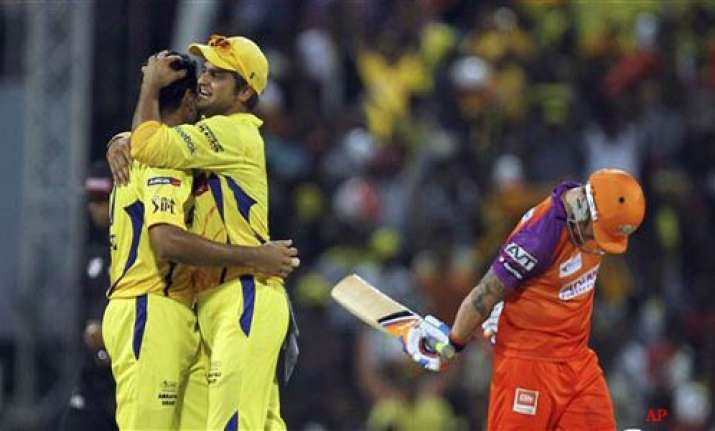 csk move to top of the table with 11 run win over tuskers
