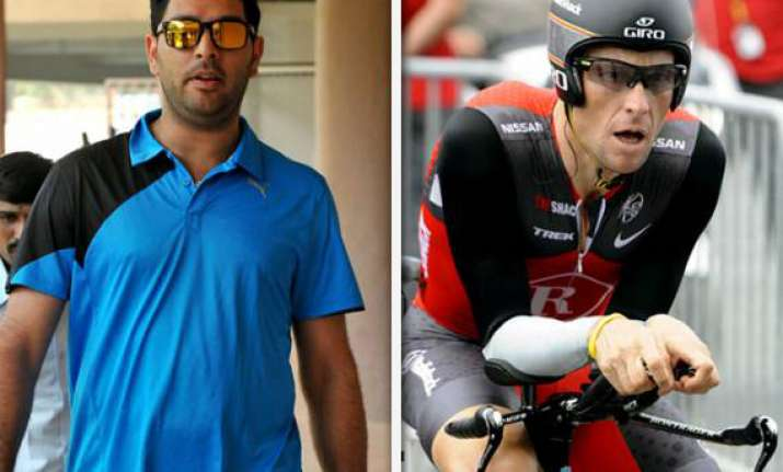 cancer hit yuvraj singh gets armstrong boost