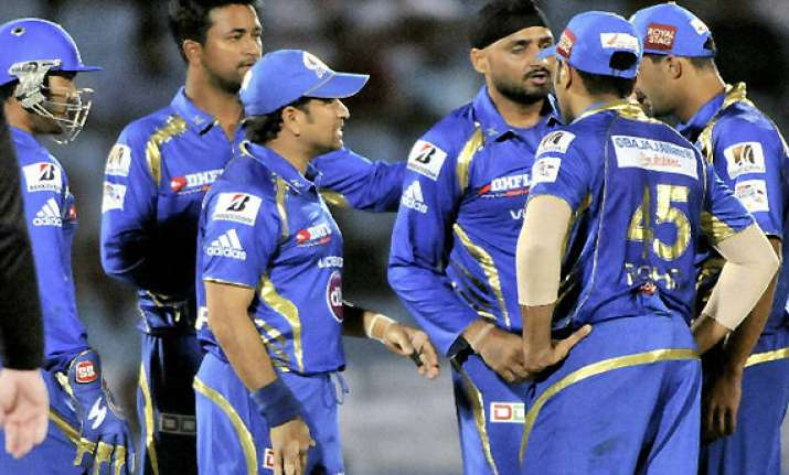 champions league mumbai indians to lock horns against t t