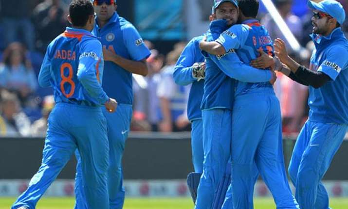 champions trophy india eyeing semifinal berth