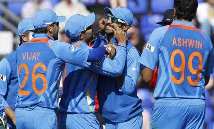 champions trophy dhawan jadeja take india to semi finals
