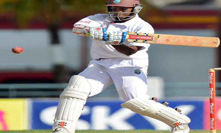 chanderpaul shines as windies amass 333/4 in practice match