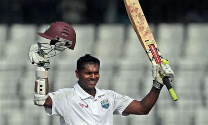 chanderpaul 150 not out as windies take 261 run lead