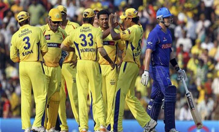 chennai super kings cruise to a eight wicket win over royals