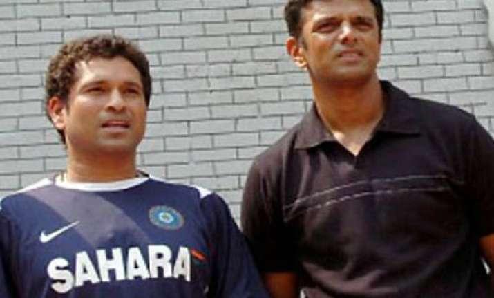 cricket community salutes tendulkar dravid