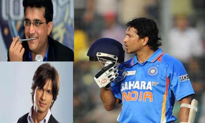 cricketers bollywood stars salute sachin tendulkar