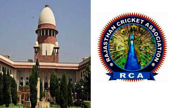 declare rajasthan cricket association results supreme court.