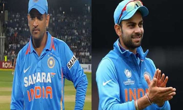 dhoni ruled out from asia cup due to injury virat kohli