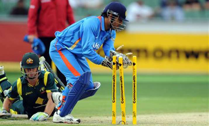 dhoni banned for one odi after india s second over rate