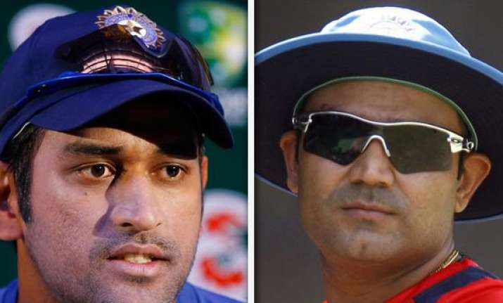 dhoni bemoans absence of sehwag from first two tests
