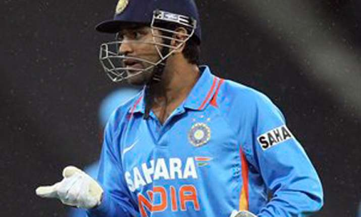 dhoni blames bowlers for tame defeat against australia