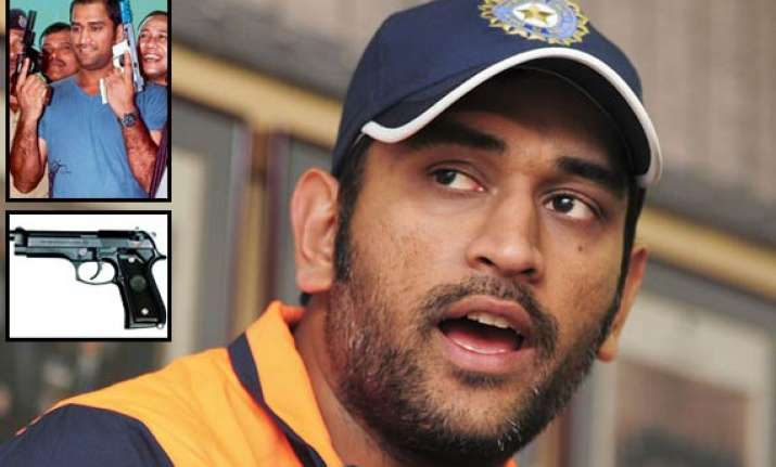 dhoni can now carry two pistols with him