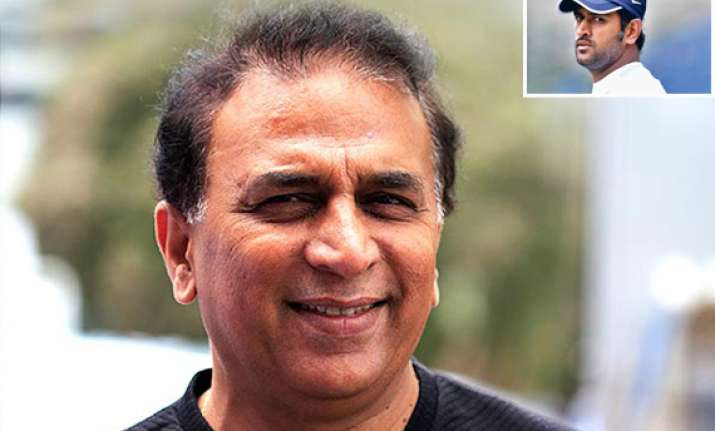 dhoni is still best bet for test captaincy says gavaskar