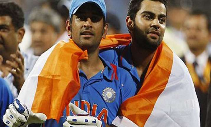 dhoni has done a commendable job as captain says kohli