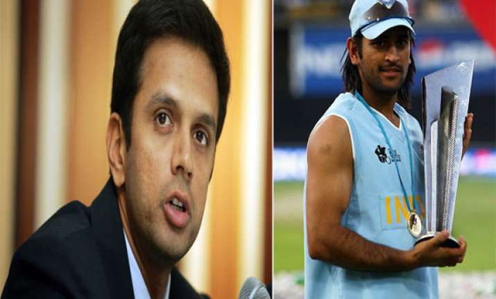dhoni right man to take india forward dravid