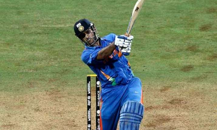 dhoni s world cup bat auctioned for rs. 72 lakhs