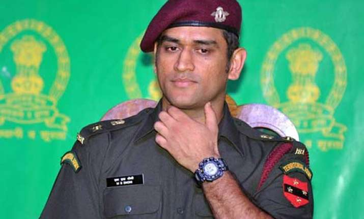 dhoni wants to serve army after cricket