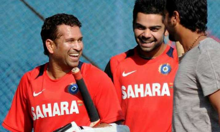 don t put pressure on virat kohli says sachin tendulkar