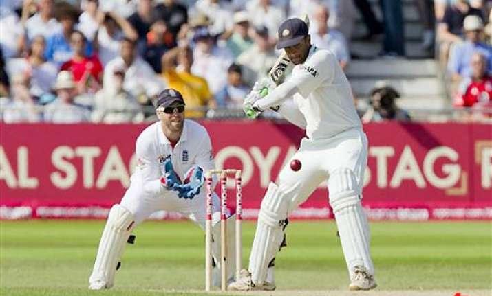 dravid hits 34th ton equals gavaskar s record