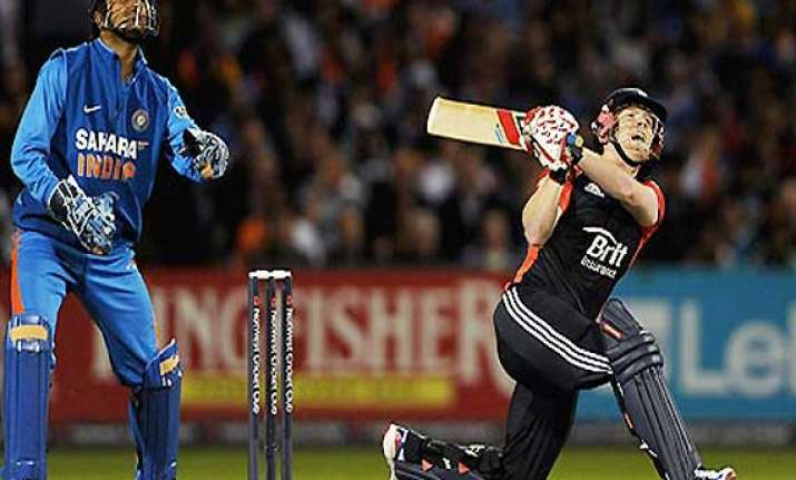 morgan leads england to last ball win and square series