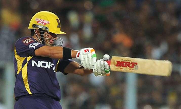 gambhir misses century but stars in kolkata s big win
