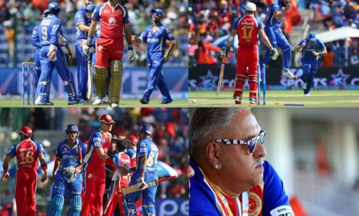 how much famed rcb collapsed against rr