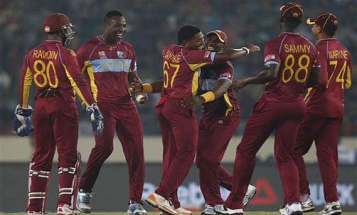 icc world t20 west indies trounce bangladesh by 73 runs