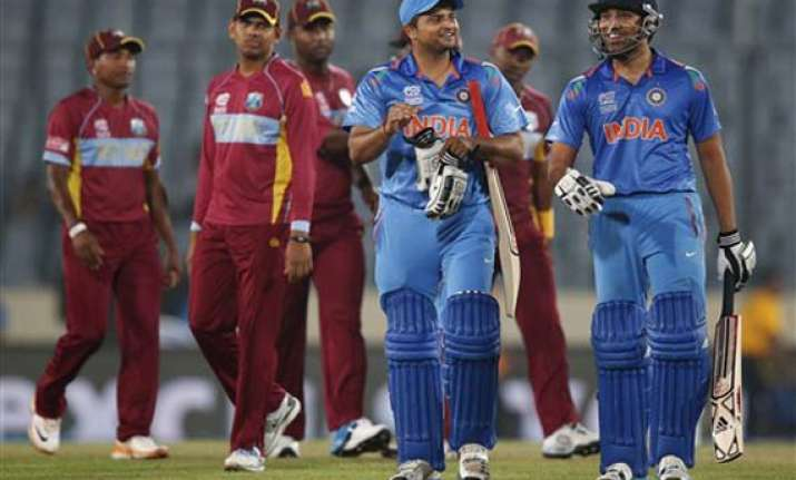 icc world t20 india crush west indies by 7 wickets to inch