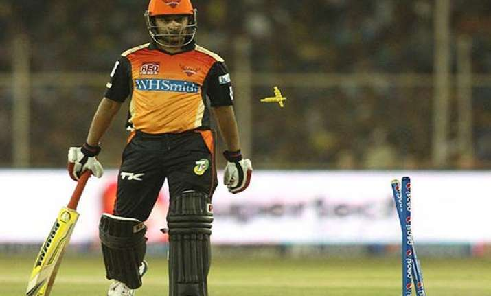 ipl 7 amit mishra strolled to one of the most bizarre run