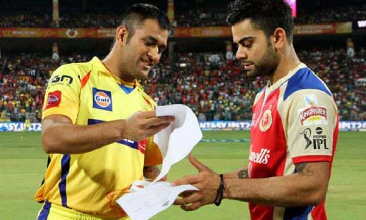 ipl7 match 42 csk look to consolidate top 4 spot rcb battle
