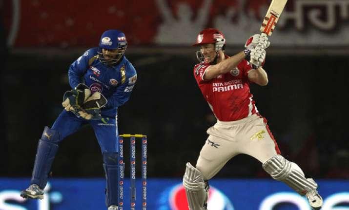 ipl7 kings xi punjab vs mumbai indians scoreboard
