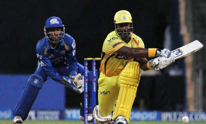 ipl 7 match 33 chennai breach mumbai fortress with 4 wicket