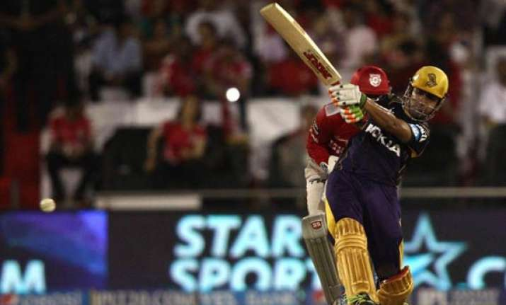 ipl 7 match 34 gambhir guides kkr to a nine wicket win over