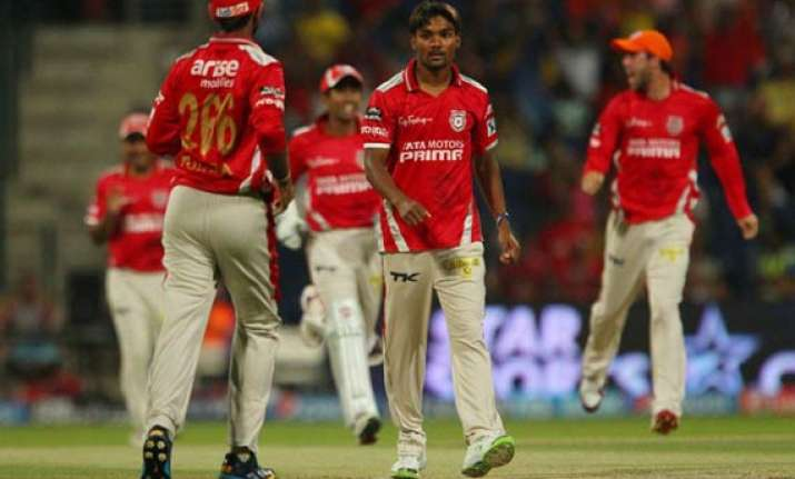 ipl 7 match 15 bowlers guide punjab to a 23 run win over