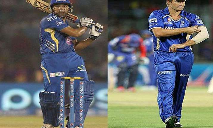 ipl 7 match 44 mi look to play party poppers for rajasthan