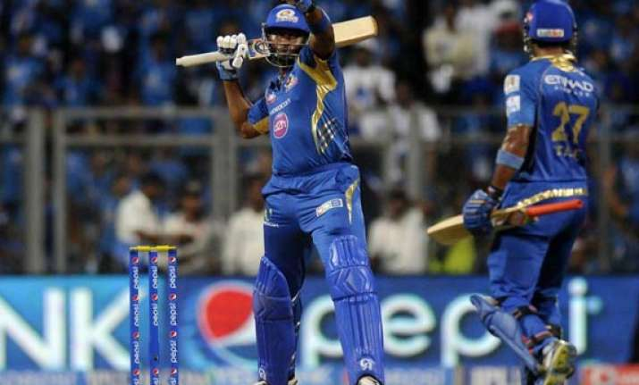 ipl 7 match 22 mumbai end losing streak with a five wicket