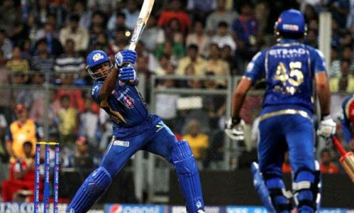 ipl 7 match 27 rohit pollard star in mumbai indians