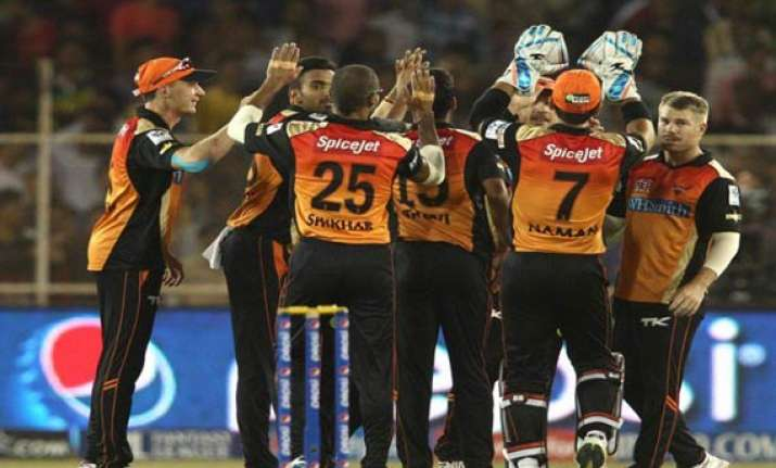 ipl 7 match 30 hyderabad jump back to contention with fiery