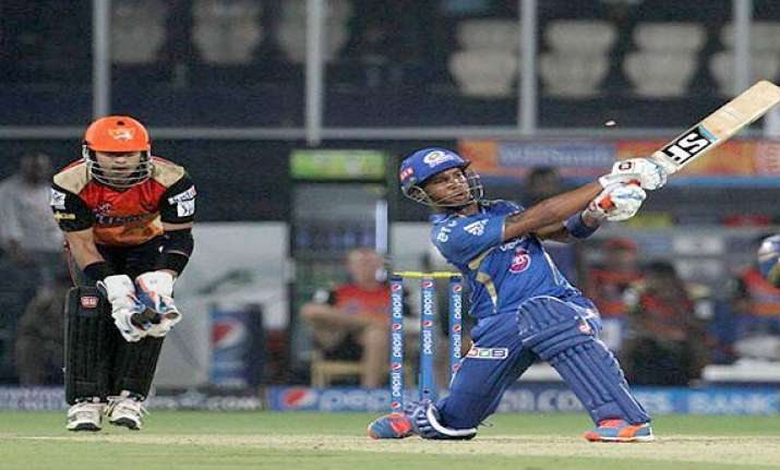 ipl 7 match 36 sunrisers hyd vs mumbai indians scorecard