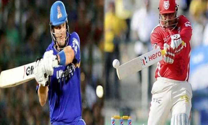 ipl7 punjab rajasthan clash as race to final four hots up