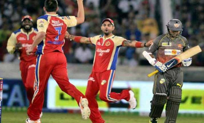 ipl7 rcb aim to brighten playoffs prospects
