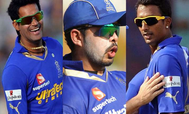 ipl fixing rajasthan royals suspends contracts of sreesanth